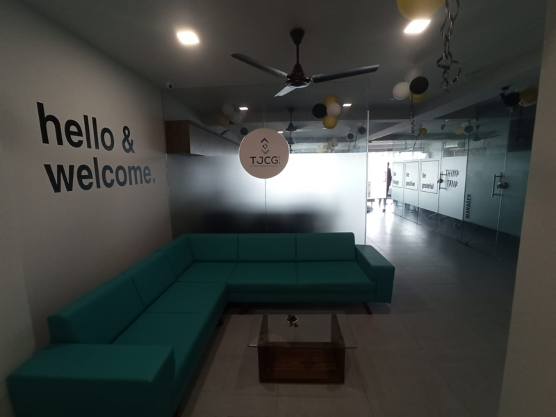 Pre-leased Office Space for Sale in Rajkot with Current Rental Income Rs. 48000/-.